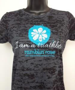 Ramblin' Rose Burnout Tee - Black:Blue